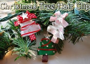 Tutorial: Christmas Tree Hair Clip