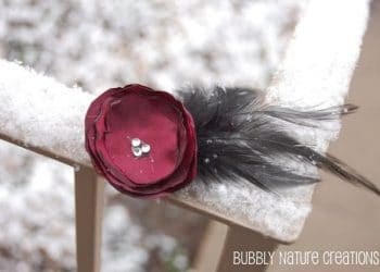Tutorial: Singed Flowers (Ranunculus Flower and Feather Fascinator)
