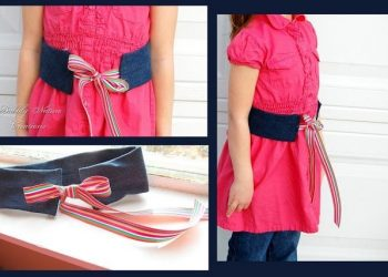 5 Ways to Re- Purpose Jeans: #4 Denim and Ribbon Belt