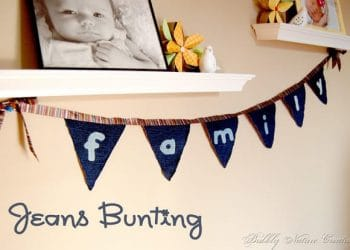 5 Ways to Re- Purpose Jeans: #1 Jeans Bunting