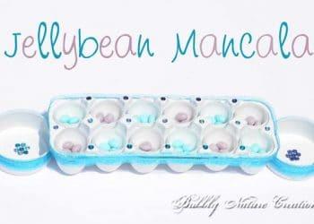 Thrifty Thursday: Jellybean Mancala (game out of an Egg Carton)