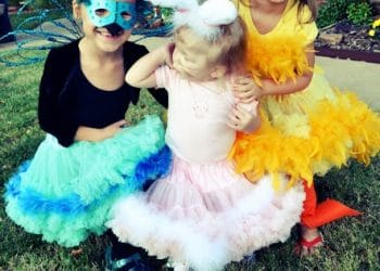 No Sew Halloween Costume Ideas… Peacock, Cool Chick and Bunny