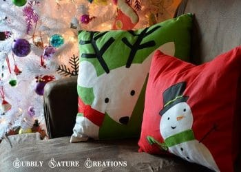 Christmas Placemat Pillows… Easy!!!