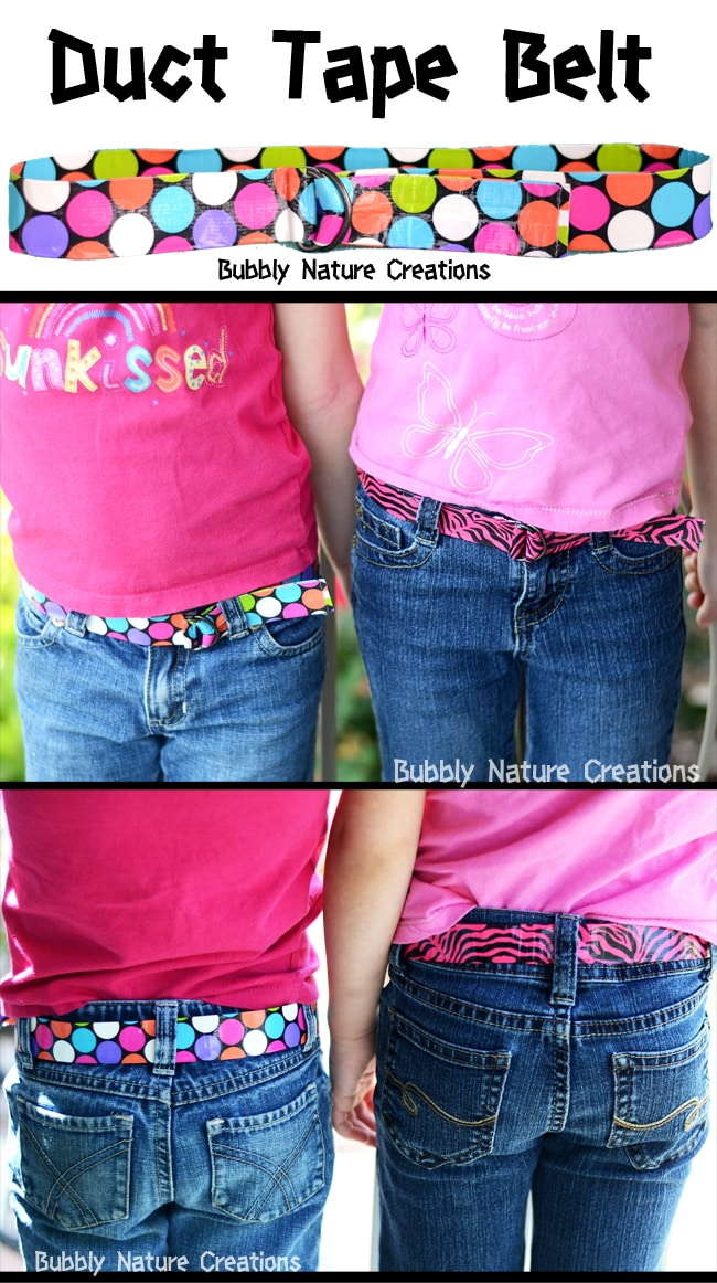Duct tape belt sprinkle some fun for Super easy duct tape crafts
