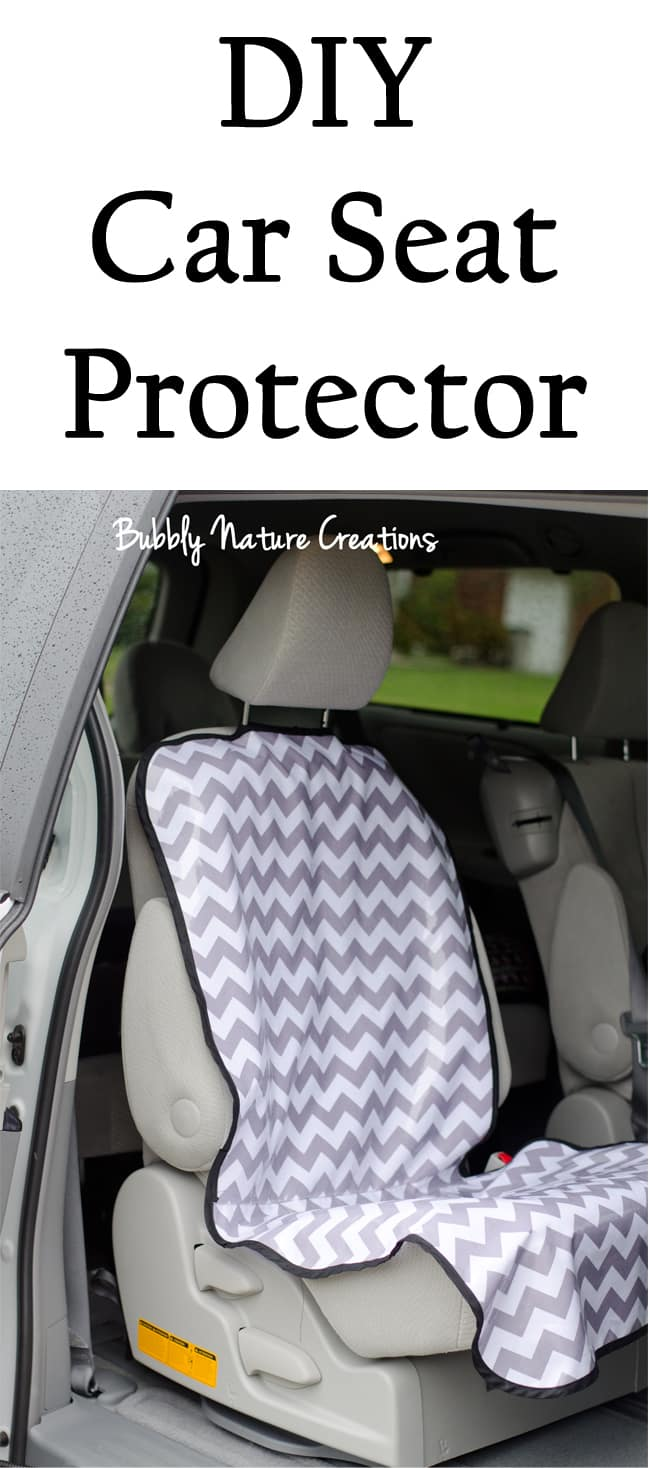 DIY Car Seat Protector1 DIY Car Seat Protector!
