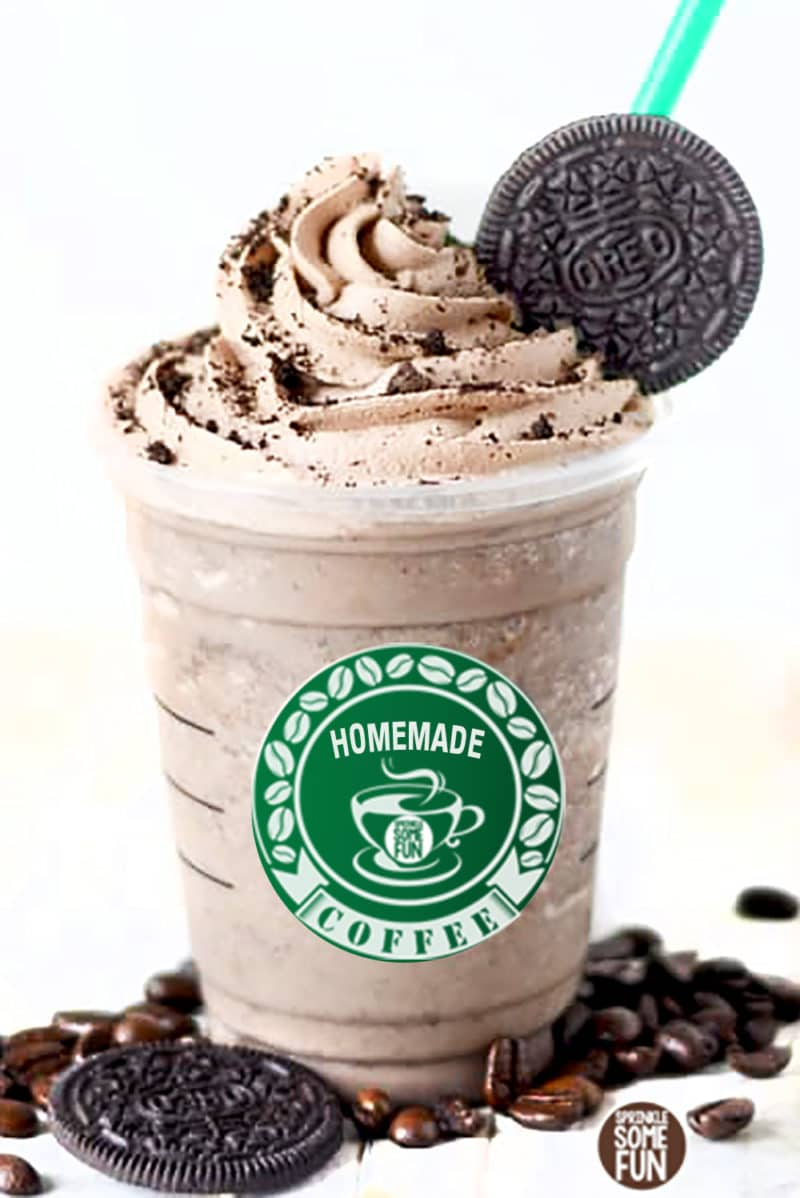Mocha Cookie Frozen Coffee ⋆ Sprinkle
