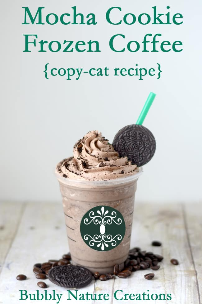 Mocha Cookie Frozen Coffee has delicious Oreos that are crumbled into a rich frozen mocha that you can make from home!  Yum!