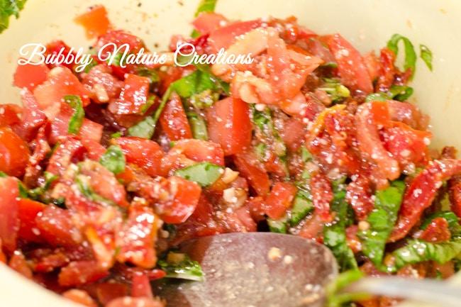 Double Tomato Bruschetta - Sprinkle Some Fun