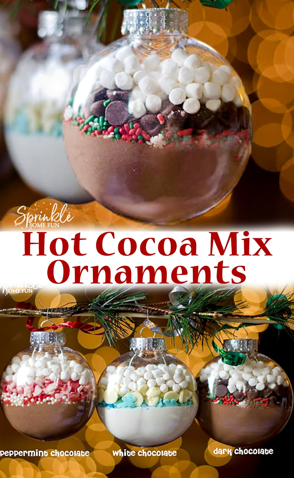 Hot Cocoa Mix Ornaments ~ DIY Homemade Christmas Gift Idea