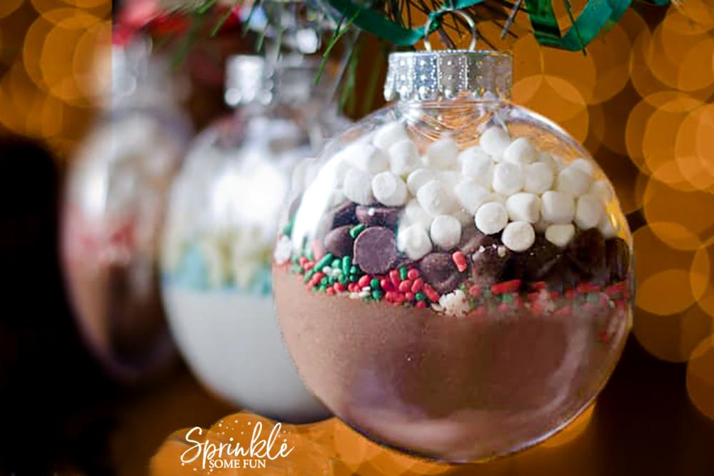 Hot Cocoa Mix Ornaments Diy Homemade Christmas Gift Idea