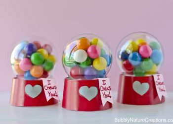 Mini Bubblegum Machine Valentines! {Tutorial}