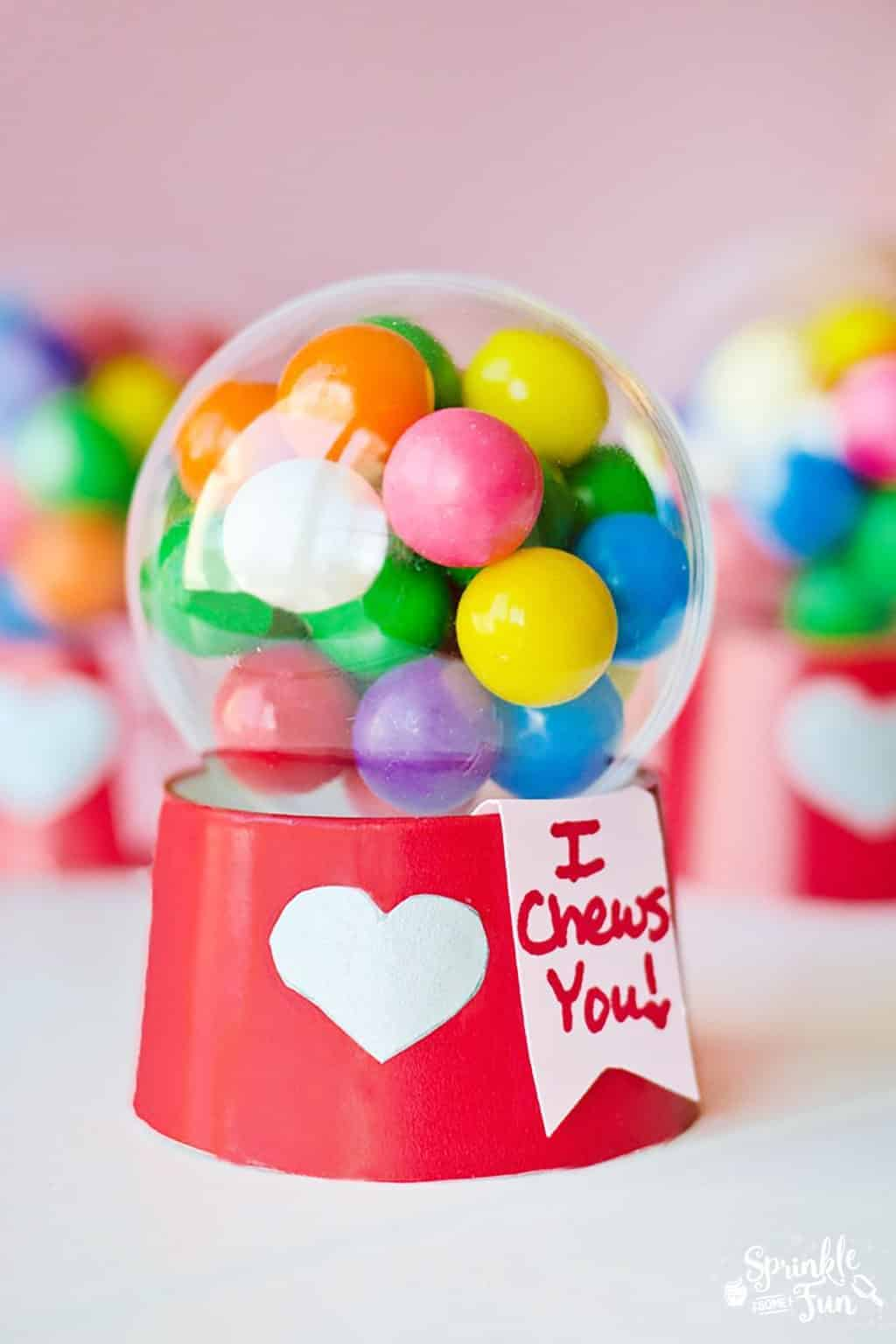 Mini Bubblegum Machine Valentines! {Tutorial} Cute Valentine's Gift Idea for kids!