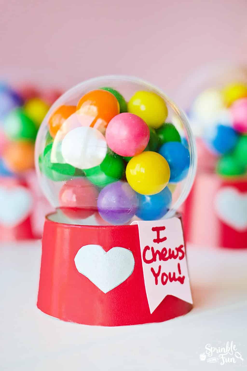 mini bubblegum machine valentines tutorial cute valentines gift idea for kids
