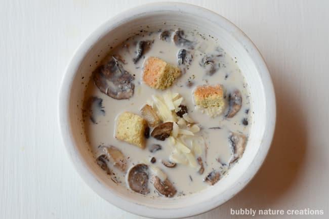 Creamy Button and Bella Mushroom Soup 3