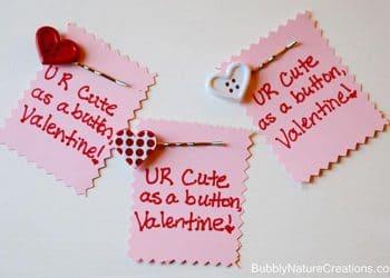 Cute Valentine! {w/ Cute as a Button Hair Pin}