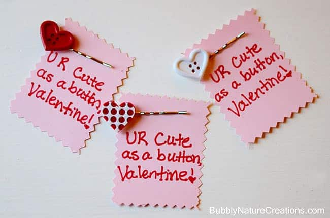 cute as a button2 Cute Valentine! {w/ Cute as a Button Hair Pin}