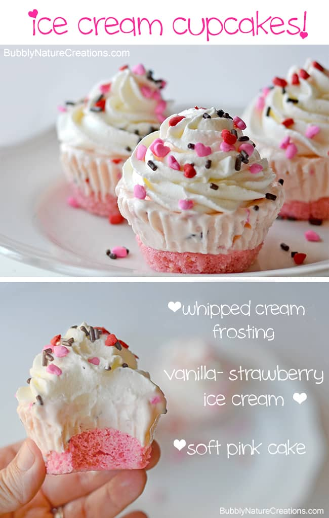 Ice Cream Cupcakes look pretty in pink!