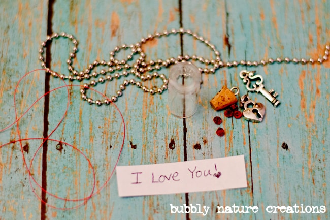 mini message in a bottle necklace 4