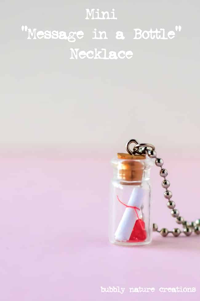 mini message in a bottle necklace