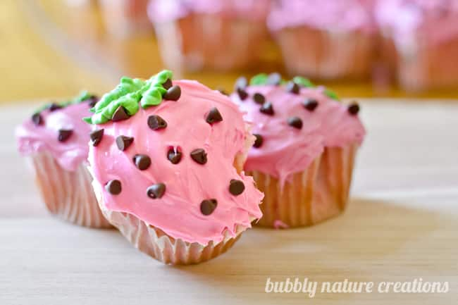 strawberry cupcakes 2