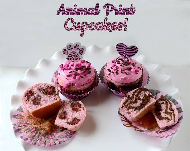 Animal Print Cupcakes Leopard Cake And Zebra Cake