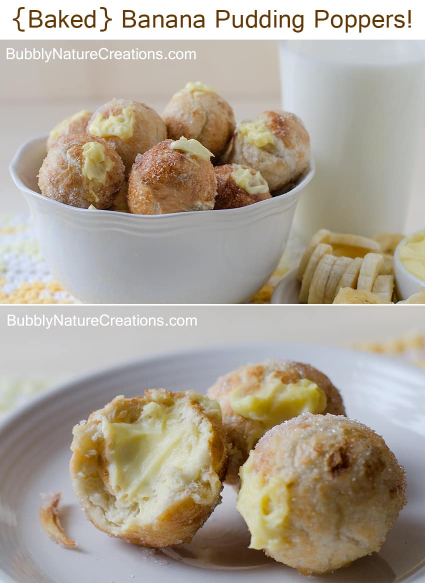Baked Banana Pudding Poppers