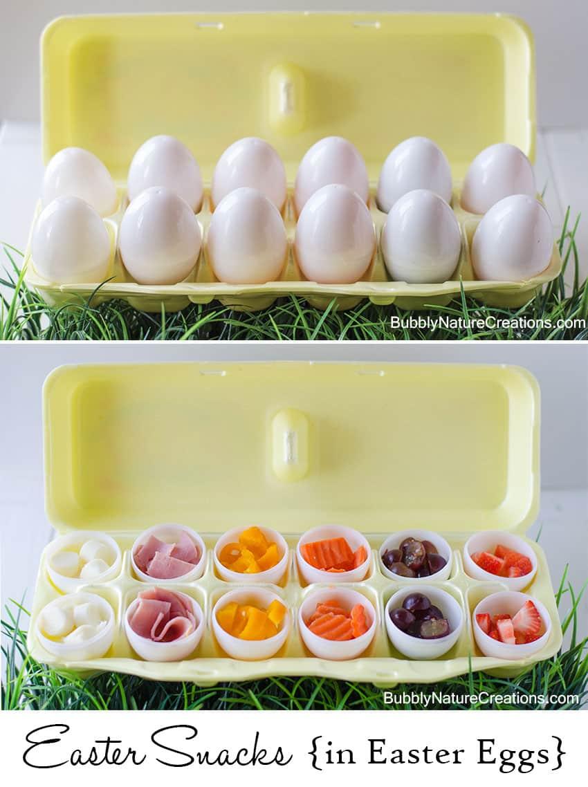 Easter Snacks in Easter Eggs!