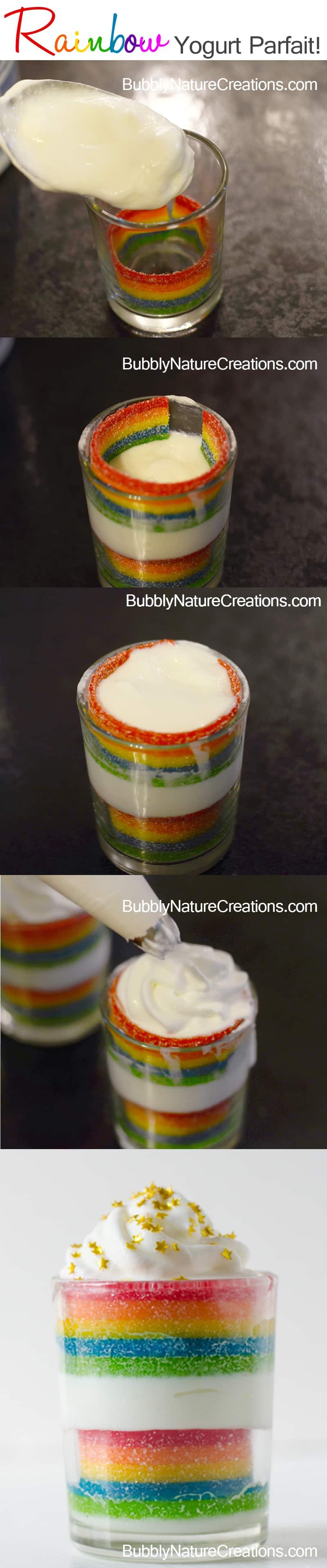 Rainbow Yogurt Parfait!