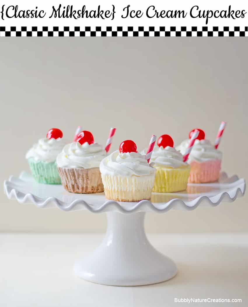 Classic Milkshake Ice Cream Cupcakes 1