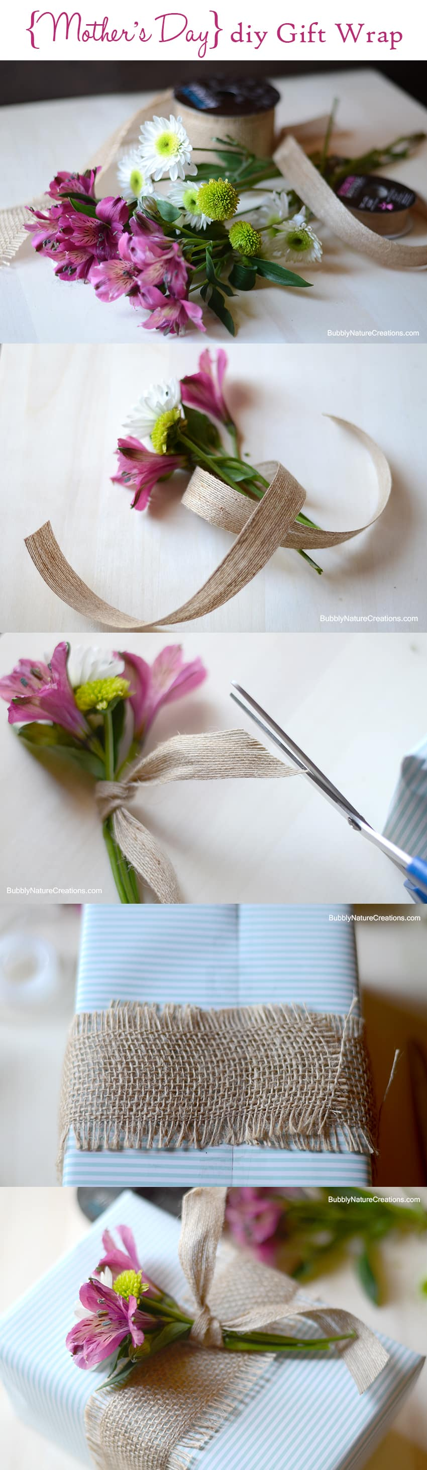 DIY Gift Wrap with Lilies is a beautiful way to embellish gifts!  This easy tutorial will show you how to use flowers to make gifts have that special touch.