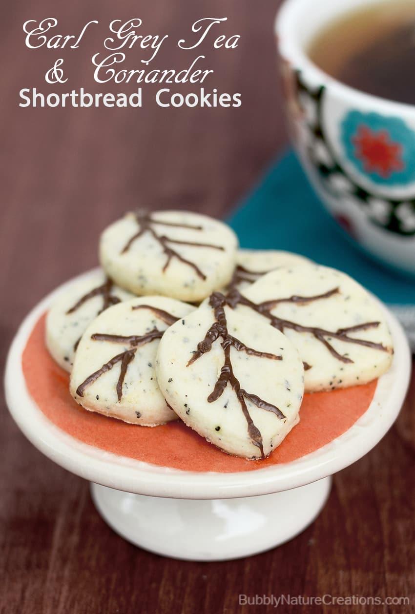 Earl Grey Tea and Coriander Shortbread Cookies! - Sprinkle Some Fun