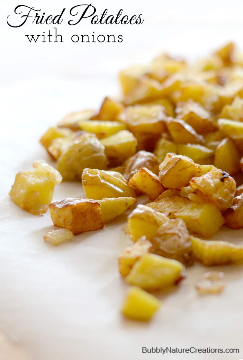 Fried Potatoes With Onions Comfort Food