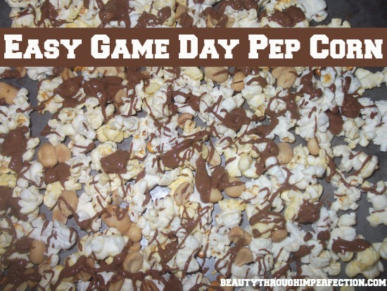 Easy Game Day Pep Corn