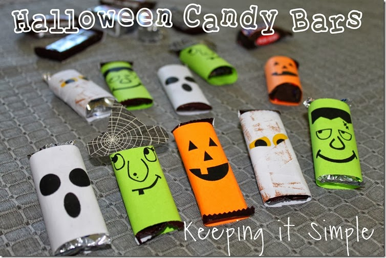 Halloween Candy Bars