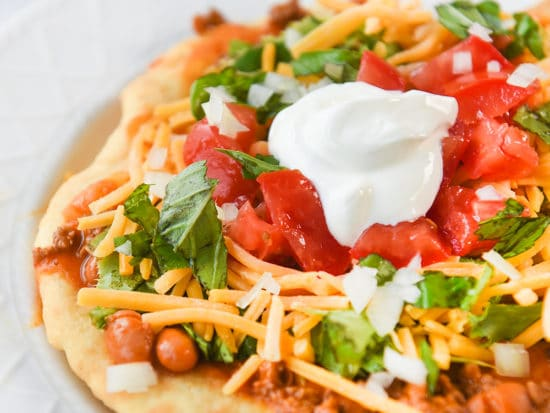 Indian Tacos with Indian Fry Bread