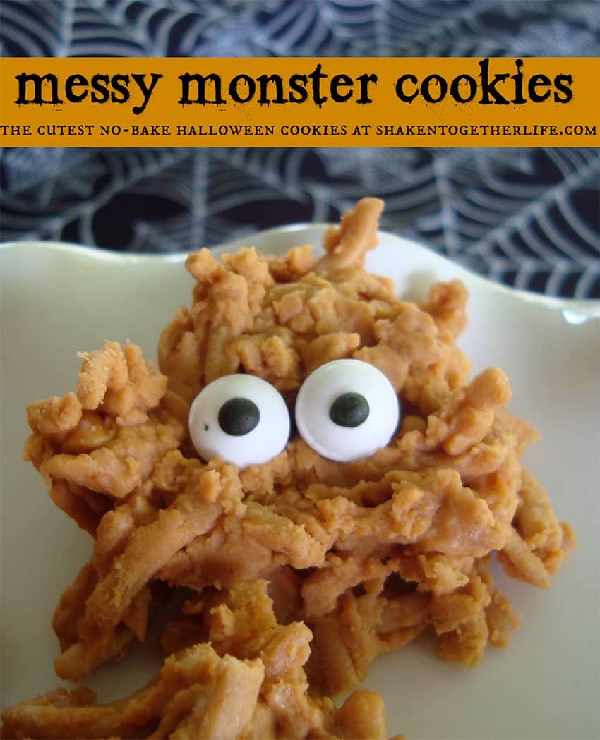 Messy Monster Cookies