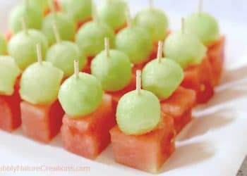 Mini Melon Bites! {Honey Dew and Watermelon}