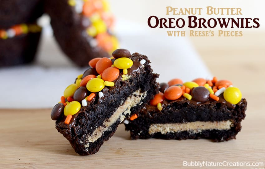 Peanut Butter Oreo Brownies with Reese's Pieces1