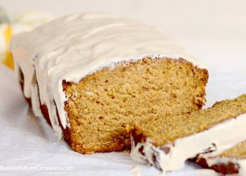 Pumpkin Pie Bread w/ Biscoff Cream Cheese Glaze!