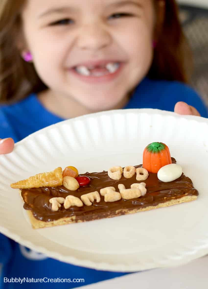 Thanksgiving Spelling Snack #Sponsored