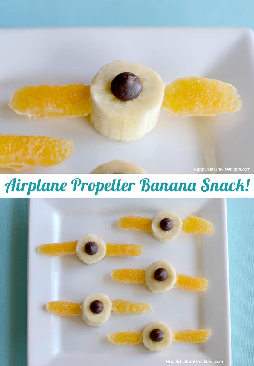 Airplane Propeller Banana Snack