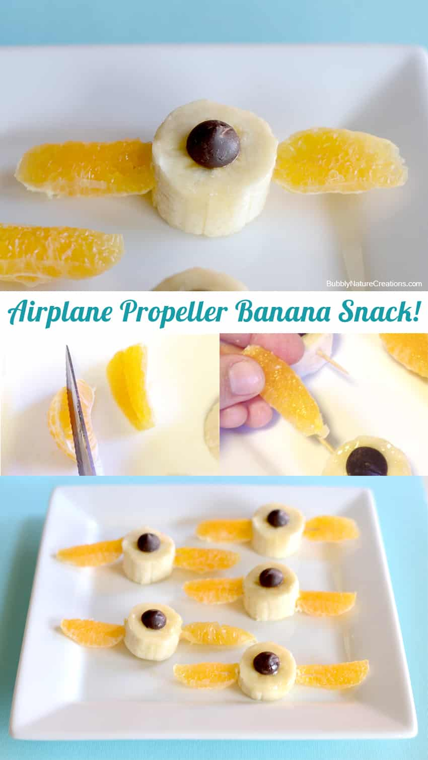 Airplane Propeller Banana Snack2