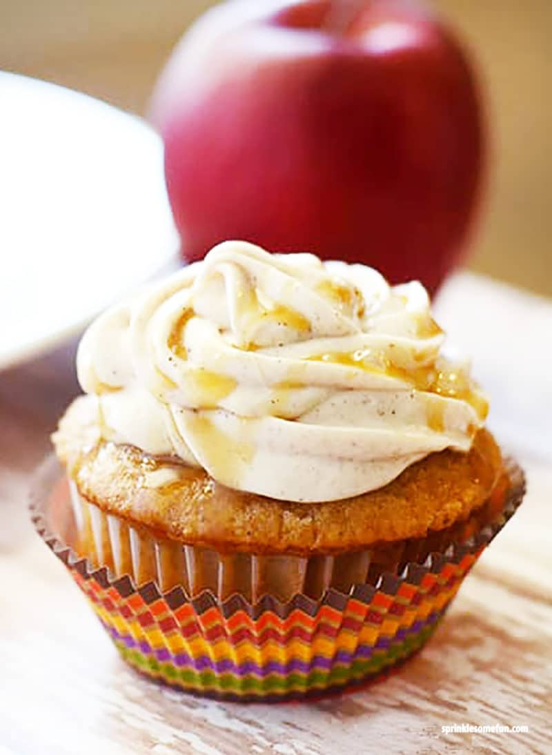 Apple Spice Cupcakes W Cinnamon Frosting ⋆ Sprinkle Some Fun