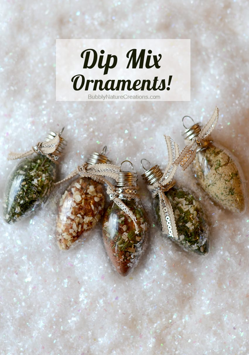 Dip Mix Ornaments Foodie Christmas Gift