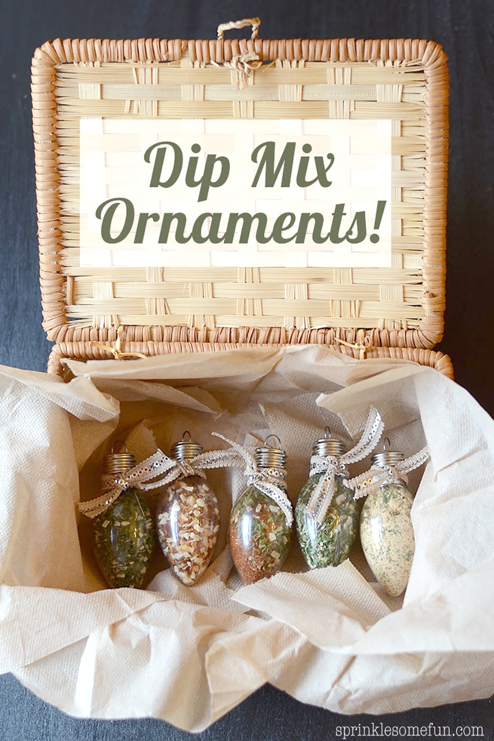 dip mix ornaments christmas gift