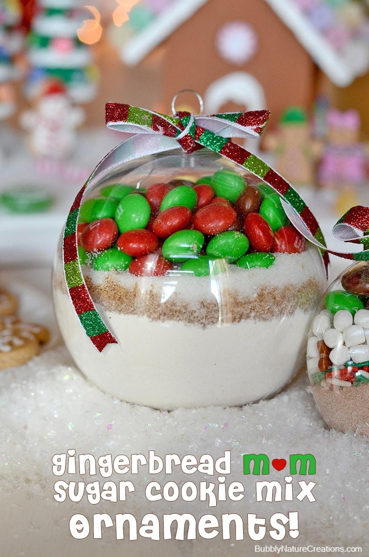 Gingerbread m&m sugar cookie mix ornament #shop