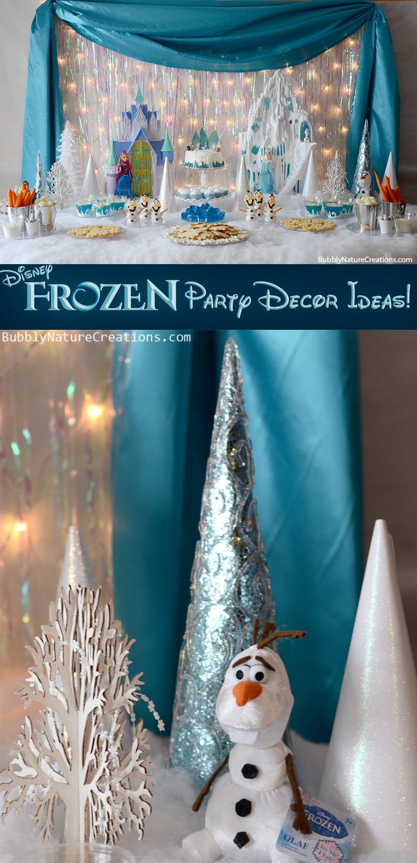 7 Things You Must Have at Your Frozen Party | Catch My Party |Frozen Birthday Decor Ideas
