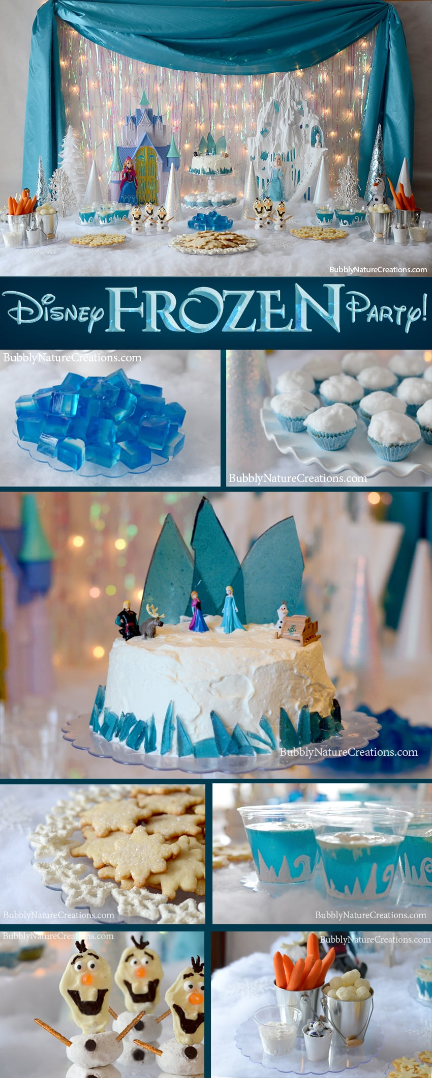 This Disney Frozen Party theme has everything from cake to games with awesome decorating tips and ideas! My little ones were so excited to see this fun filled party with their favorite Frozen characters. #FrozenParty #DisneyFrozenParty #GirlBirthdayPartyIdeas #PartyIdeas