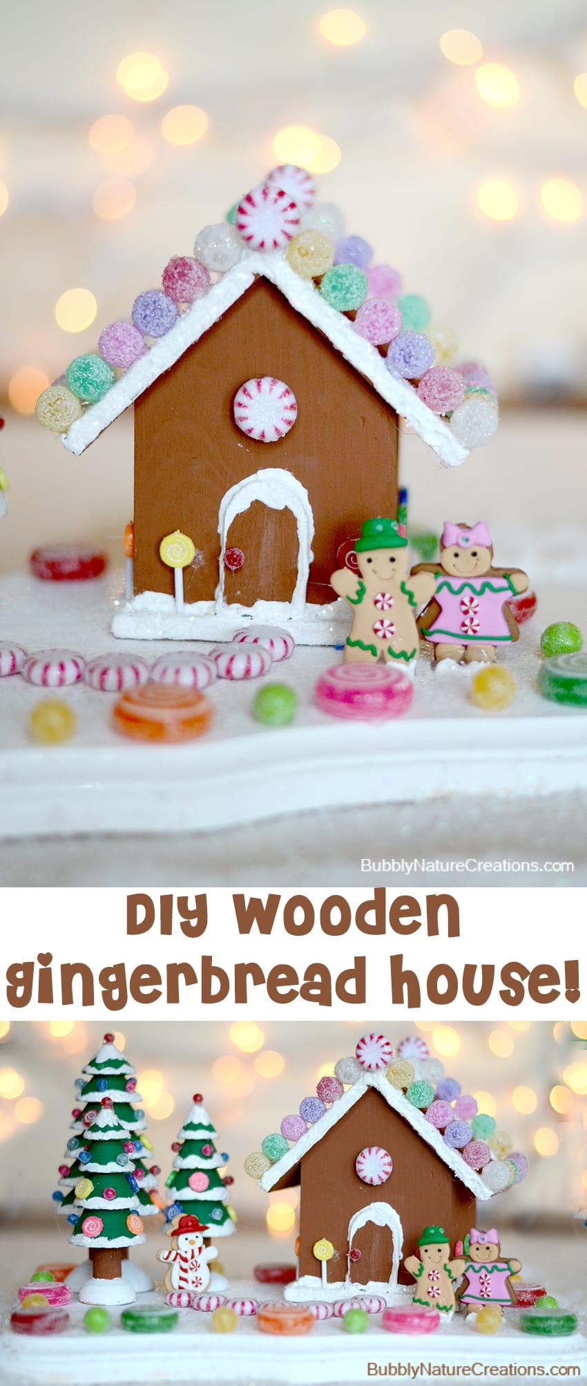 diy wooden gingerbread house
