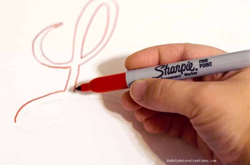Sharpie tracing
